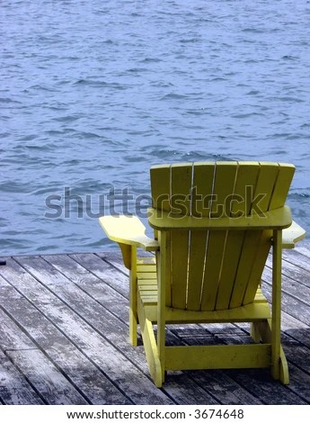Rocking Chair On Old House Porch Stock Photo 3411859