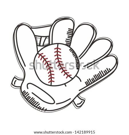 Happy Cartoon White Baseball Ball Character Stock Vector