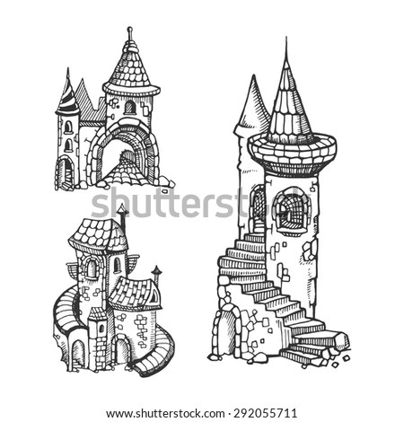 Castle Drawing Stock Images, Royalty-Free Images & Vectors