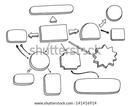 Hand Drawn Vector Illustration Mind Map Stock Vector