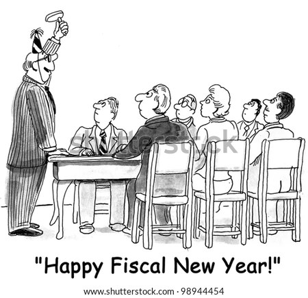 Boss Wishes Everyone Happy Fiscal New Stock Illustration