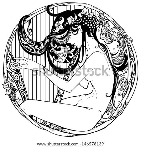 Art Nouveau Woman Stock Images, Royalty-Free Images
