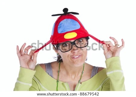 Image result for images of woman with propeller hat