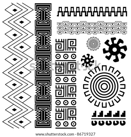 Vector Image Ancient American Pattern On Stock Vector