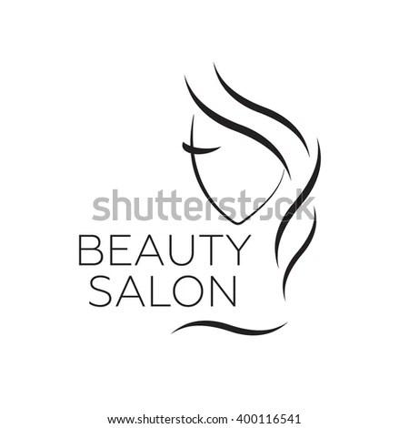 Beautiful Woman Vector Logo Template Hair Stock Vector