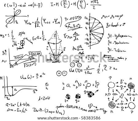 Vector Atom Quantum Physics Molecule Hydrogen Stock Vector