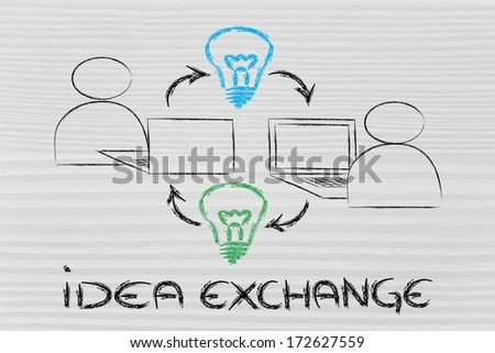 Exchange Ideas Stock Images, Royalty-Free Images & Vectors