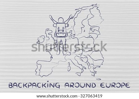 Stylized Map France Things That Different Stock Vector