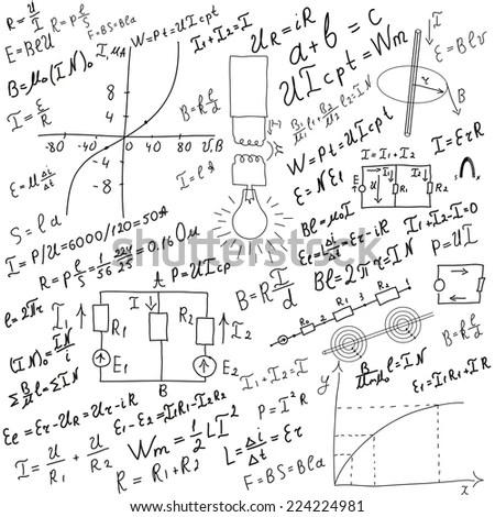Vector Pattern Mathematical Formulas Equations Figures