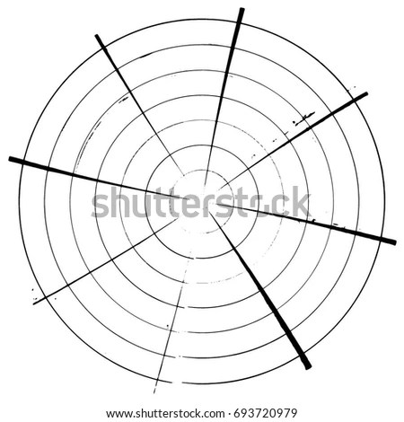 Empty Smith Chart Tool Radio Frequency Stock Illustration