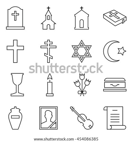 Funeral Icon Stock Images, Royalty-Free Images & Vectors