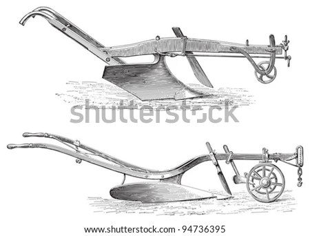 Old Plow Stock Images, Royalty-Free Images & Vectors