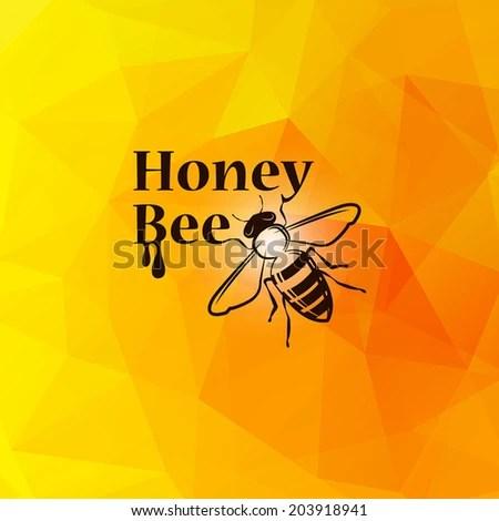 Postcard Bees Sunflowers Wishing Happy Birthday Stock