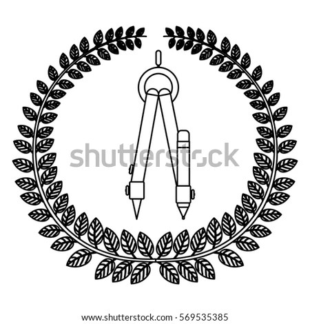 Isolated Compass School Concept Design Stock Vector