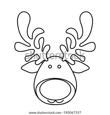 Rendier Hoofd Kleurplaat Kleurplaten Kerstman Rendieren En