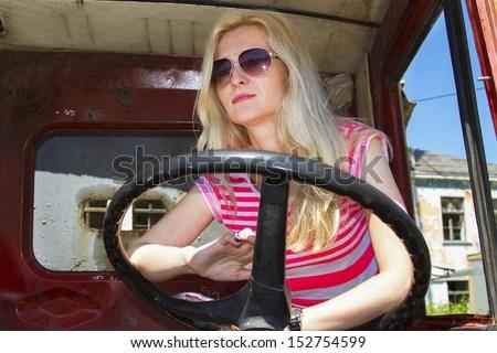 Girls Truck Stock Images RoyaltyFree Images Vectors
