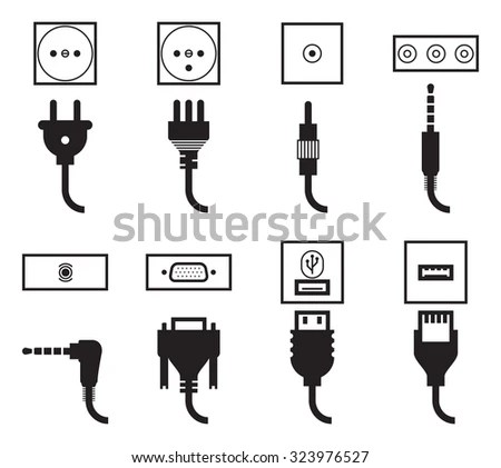 Electrical Outlet Icon Electrical Power Icon Wiring