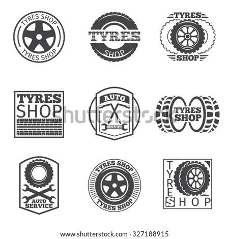 Tire Shop Logos Stock Images, Royalty-Free Images