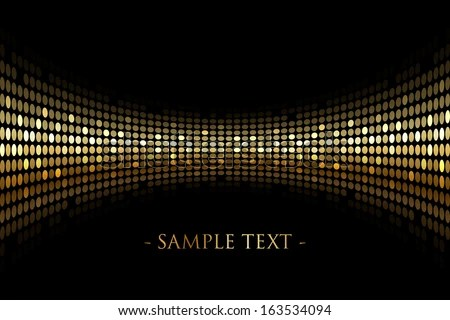 Vector Black Background Gold Lights Space Stock Vector