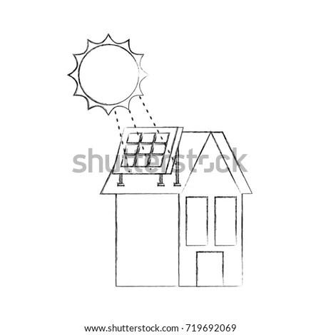 Line Art Illustration Barn House Coloring Stock Vector