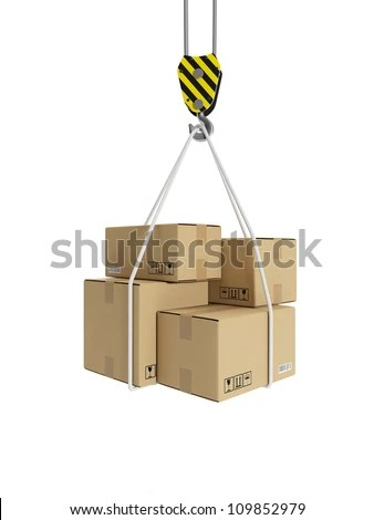 3d Illustration Cargo Transportation Crane Hook And
