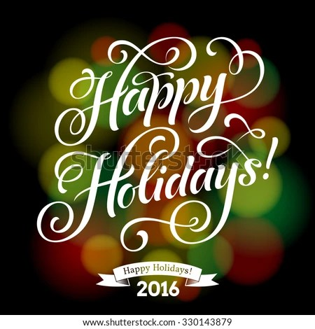 Vector Illustration Paper Cards Happy Holidays Stock