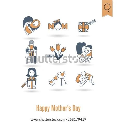 mom and baby stock vectors & vector