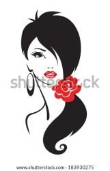 woman silhouette vector elegant face illustration pretty vectors shutterstock illustrations stencil clip royalty drawings vinyl faces millions hd flapper