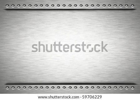 Rivets Brushed Steel Background Stock Illustration