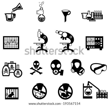 Silhouette Science Chemical Chemistry Laboratory Animal