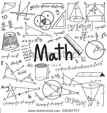Math Theory Mathematical Formula Equation Doodle Stock