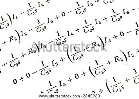 Seamlessly Wallpaper Mathematical Formulas On White Stock