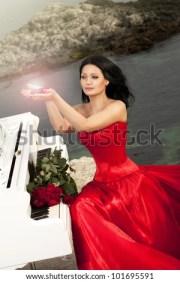 beautiful slim bride red wedding