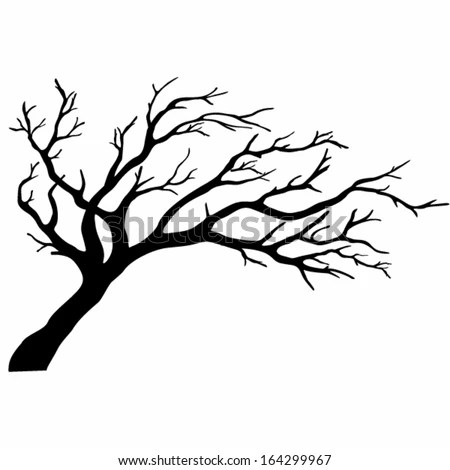 Tree Silhouettes Vector Illustration Stock Vector