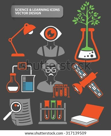 Vector Science Flat Icons Biotechnology