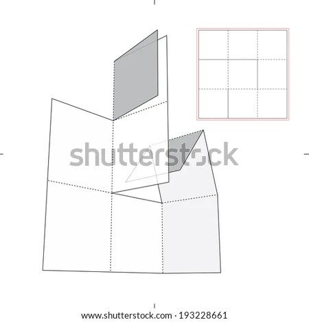 Sleeve Dividers Illustration Die Cut Layout Stock Vector