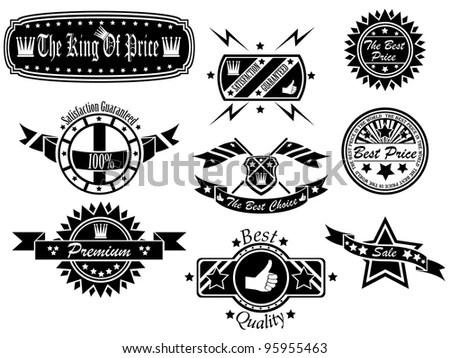 Set Rock Roll Music Emblems Labels Stock Vector 232945006