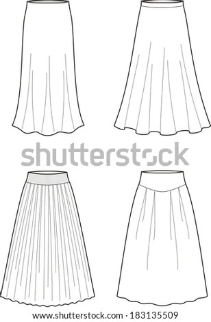 Long Skirt Stock Images, Royalty-Free Images & Vectors