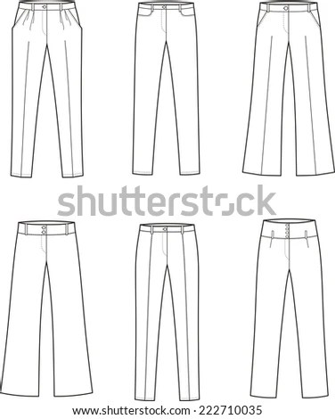 Woman Trousers Stock Photos, Royalty-Free Images & Vectors