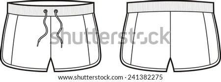 Woman Shorts Stock Images, Royalty-Free Images & Vectors