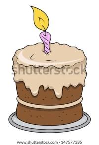 Cartoon Birthday Cake Vector Cartoon Illustration Stock ...