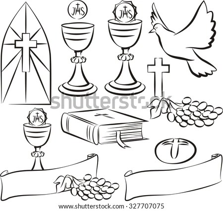 Symbols Of Eucharist Stock Images, Royalty-Free Images