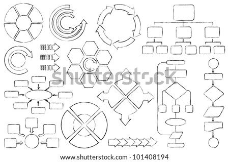 Vector Illustration Empty Flow Chart Diagram Stock Vector
