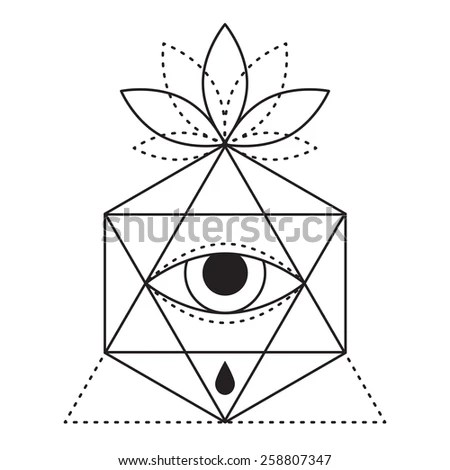 Trendy Style Geometric Tattoo Design Hipster Stock Vector