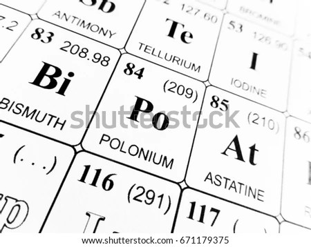 Polonium Stock Images, Royalty-Free Images & Vectors