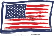 grunge usa flag stock vector 450636892