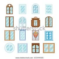 Window Collection Stock Vector 135197135 - Shutterstock