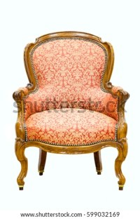 Classical Antique Sofa Chair Floral Pattern Stock Photo