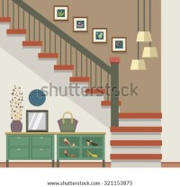 Cartoon Stairs In A House