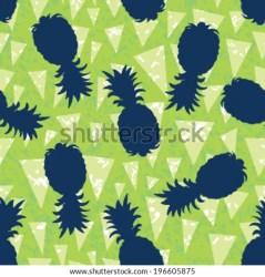background silhouette pattern banderitas pineapple seamless shutterstock vector